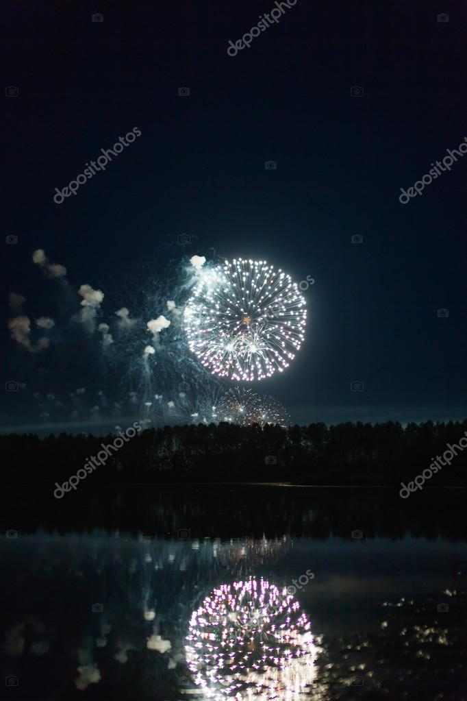 firework over the river