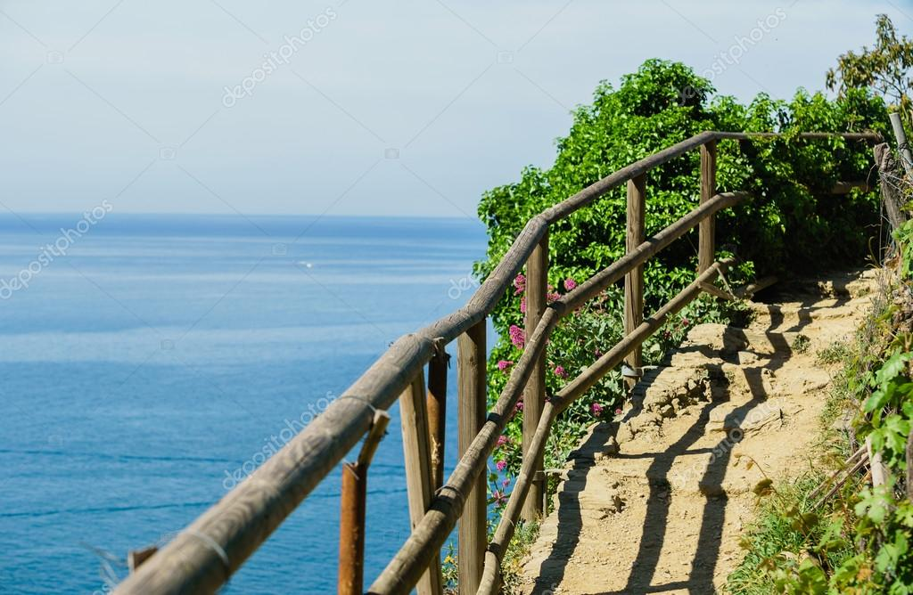 path with wooden fence