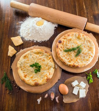 Ossetian pies with cheese