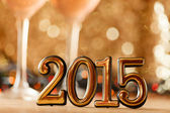 Fotografie eines glückliches neujahr grußkarte