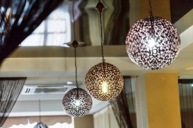 Ball lamps in restaurant