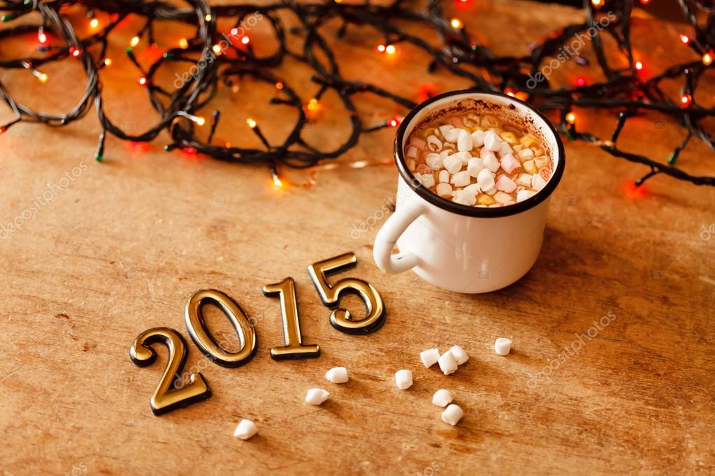 Neujahrs-Begrüßung-Symbole — Stockfoto © Shebeko #56228539