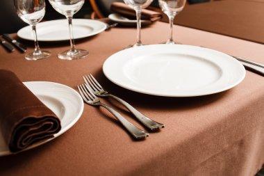 Set in restaurant stock vector