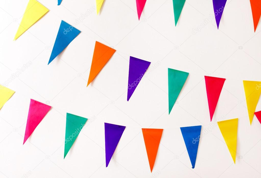 Colorful party flags