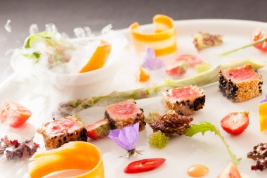 Molecular dish on plate