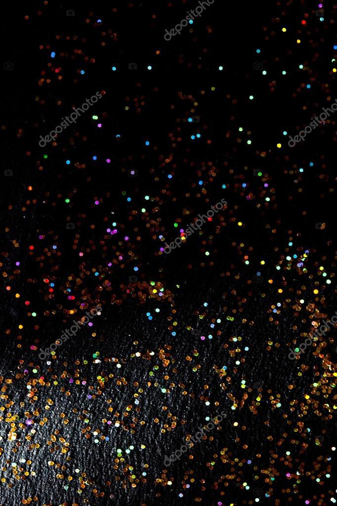 Glitter on black background