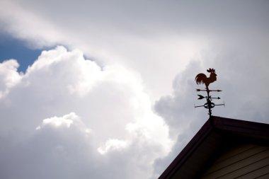 Metallic rooster wind cock