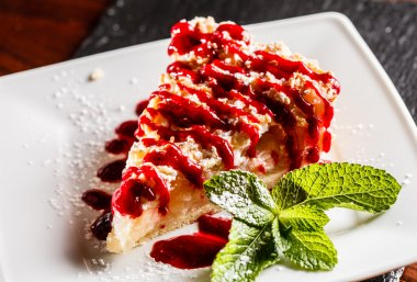 Piece of cake with berries