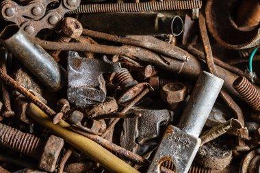 rusty hand tools
