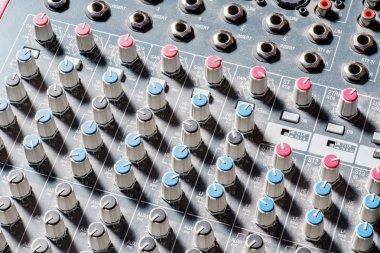 Audio mixer keyboard equipment stock vector