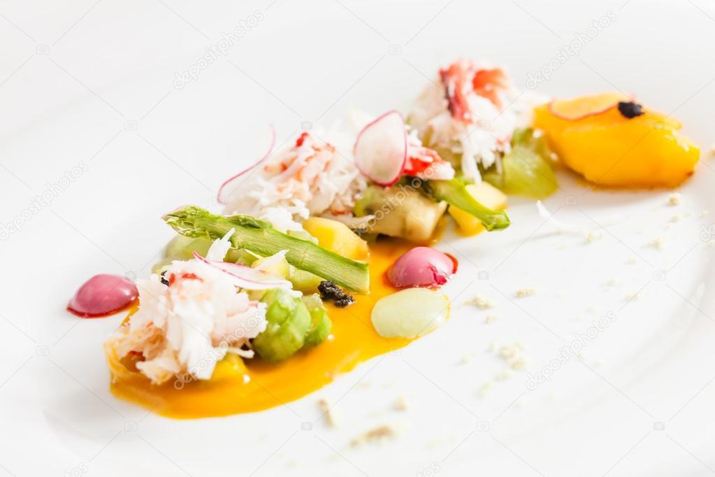 Gourmet food on plate