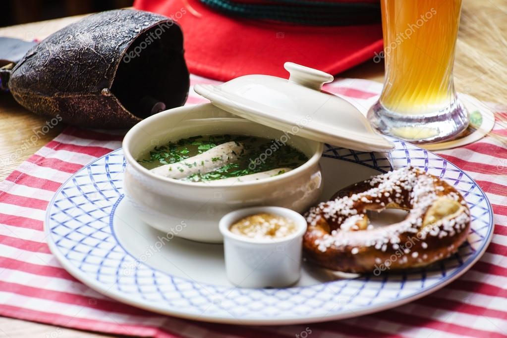 Bayerische Wurst Vorspeise Stockfoto Shebeko 82110620