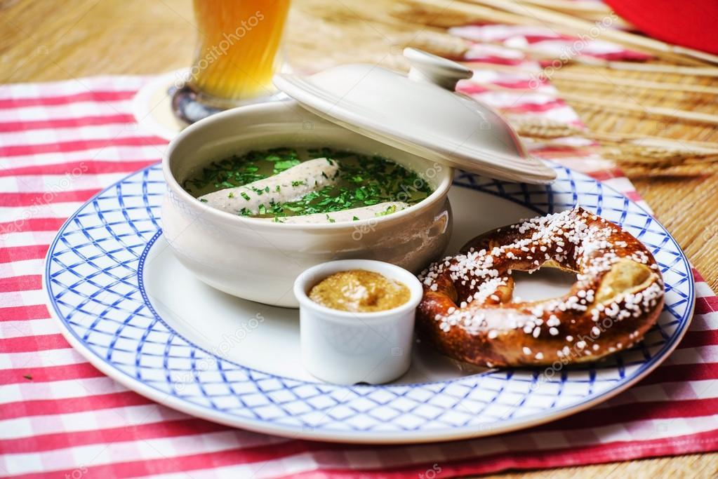 Bayerische Wurst Vorspeise Stockfoto Shebeko 82110626