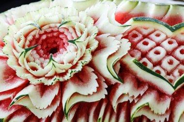 carved ornamental watermelon
