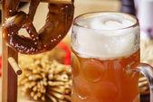 Photo Beer mug and Pretzel, Oktoberfest