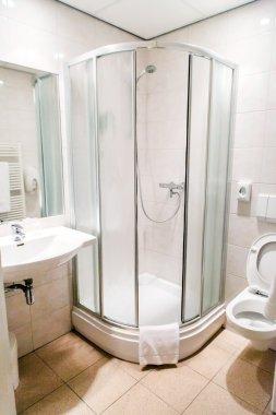 modern bathroom in the hotel