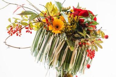 autumn bouquet chrysanthemums