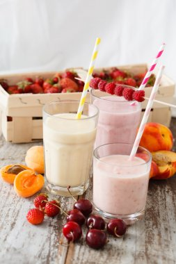 tasty fruit smoothies
