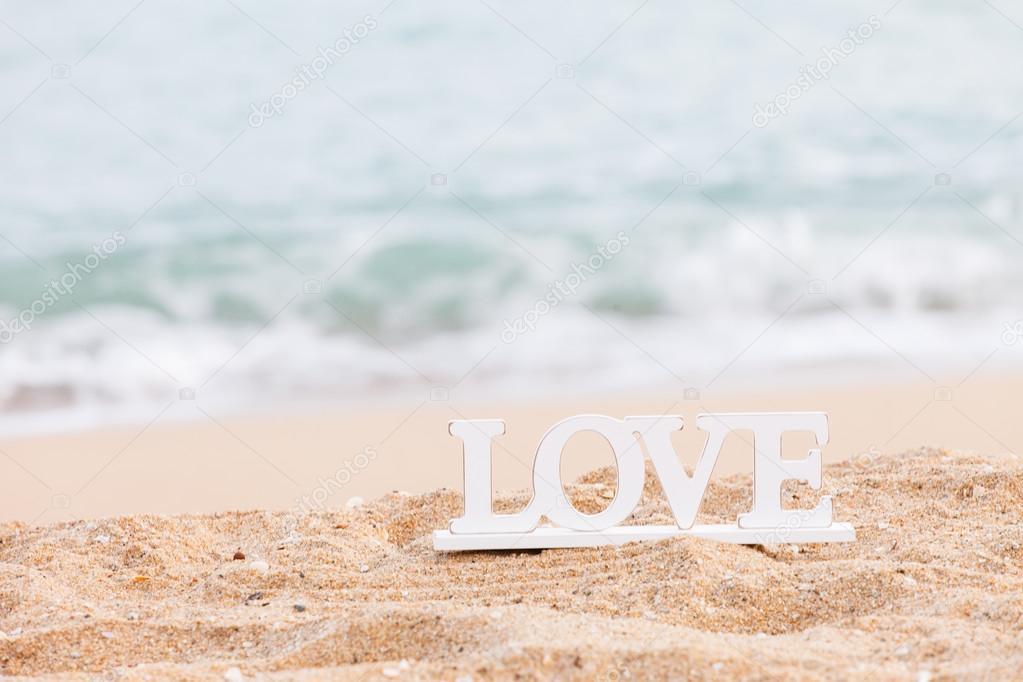 wooden word love