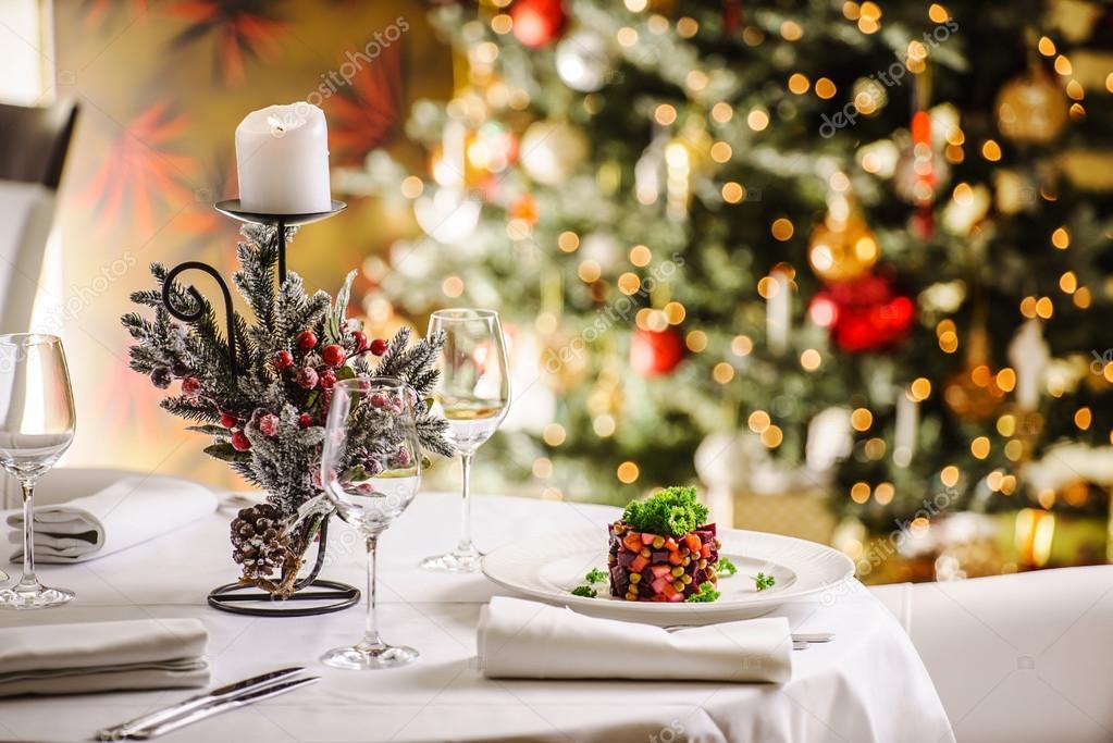 Kerst decoratie voor op tafel