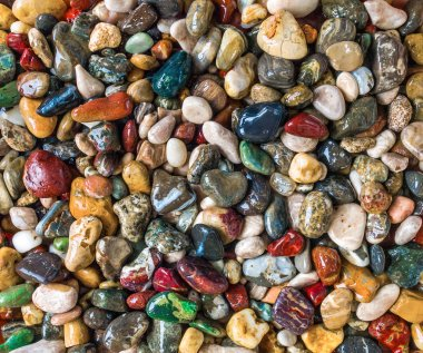 Beach gemstones, close up