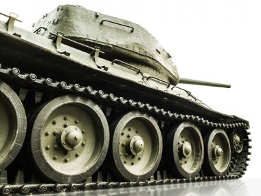 Tank T-34, isolated closeup