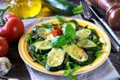 Photo Grilled Zucchini with  Mozzarella