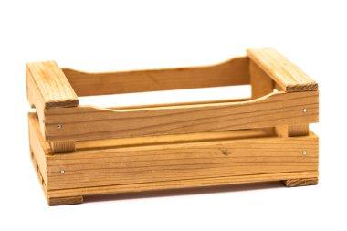 Empty wooden crate
