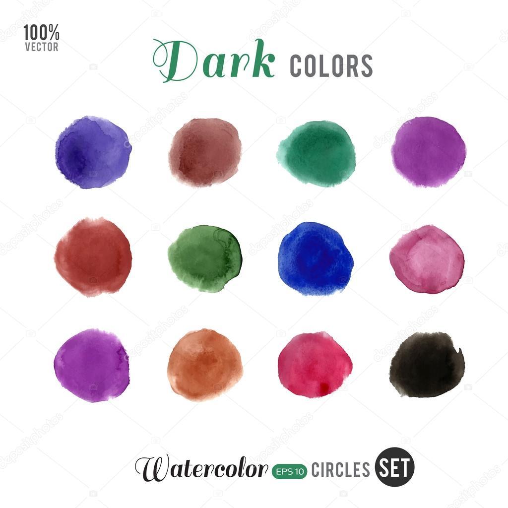 Dunkle Farben.Dunkle Farben Kreise Stockvektor Enkaparmur 56717309