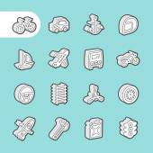 Photo 3D Fat Line Icons