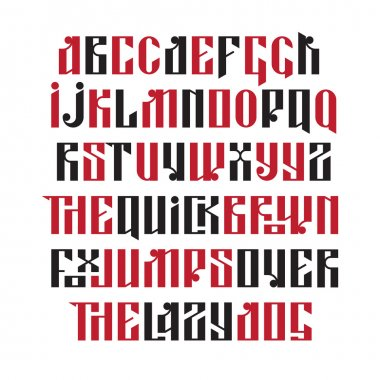 The latin stylization of Old slavic font