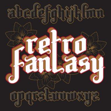 3d Fantasy Gothic Font