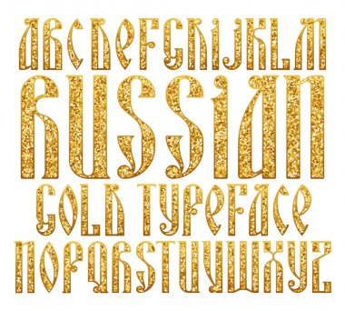 Russian Gold typeface