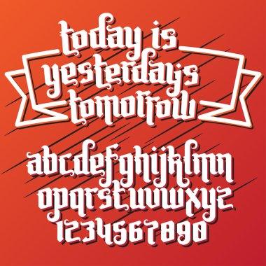 fantasy label font