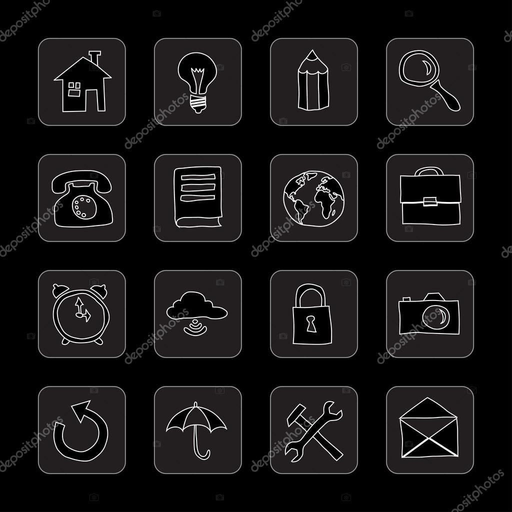 hand drawn flat icons