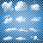 Fotografie Sada průhledných mraky