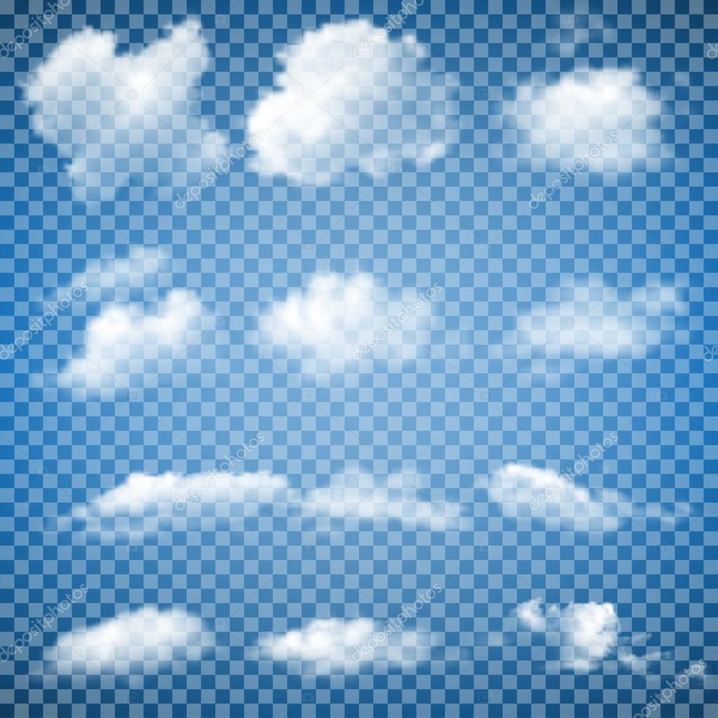 Set of Transparent Clouds