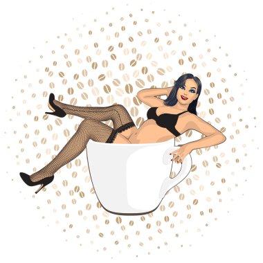 coffee cup girl