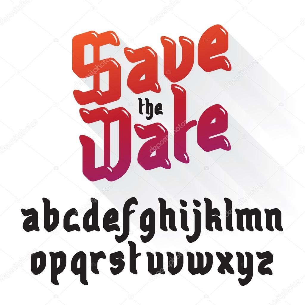 Modern Gothic Font — Stock Vector © nrey_ad #82788828
