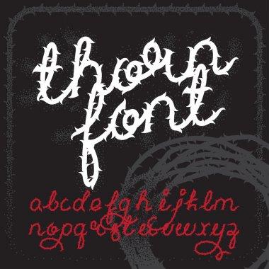 Thorn alphabet vector font