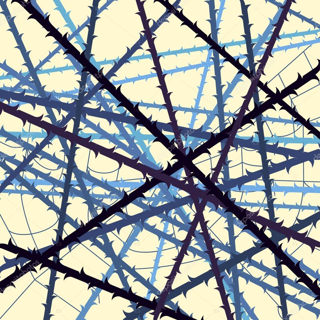 web of blackthorn abstract background