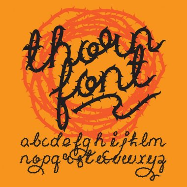Thorn alphabet vector font