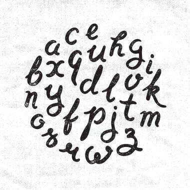 Handwritten alphabet set