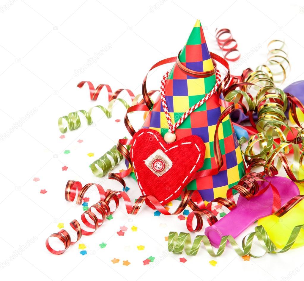 Verjaardag Feest Hoed En Serpentine Stockfoto C Timmary 61795687