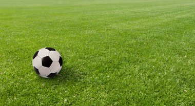 Sports concept. Ball on the soccer field