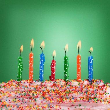 Festive concept. Happy birthday candles