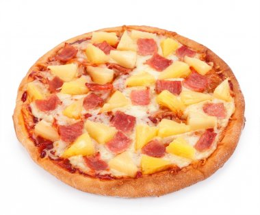 Hawaiian Pizza isolated on a white background