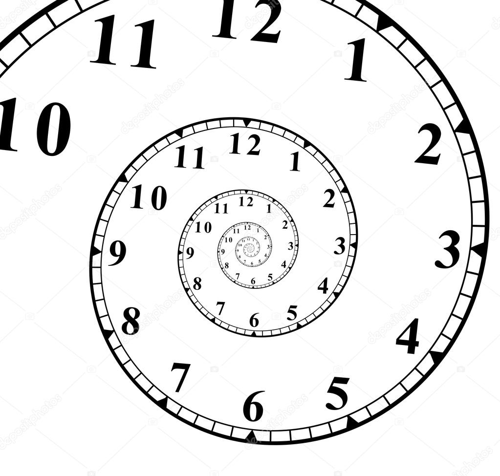 clock face with a spiral effect — stock photo © spaxiax #117789644