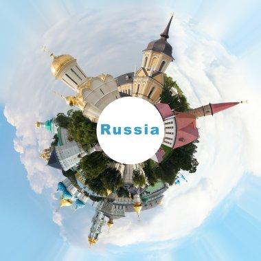 Russian landmarks collage