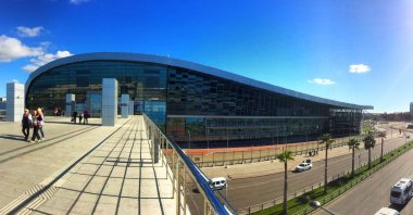 SOCHI, ADLER, RUSSIA - November 4.2015: Modern building of the m